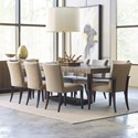 American Drew Ad Modern Organics 9 Piece Table & Chair Set - Item Number: 600-702R+2x637+6x636
