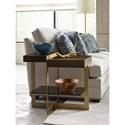 American Drew Ad Modern Organics Winkler End Table with Tempered Bronze Glass Shelf