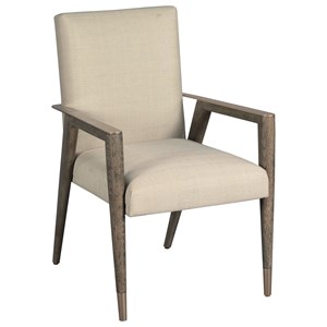 American Drew Ad Modern Classics Upholstered Shelby Dining Arm Chair