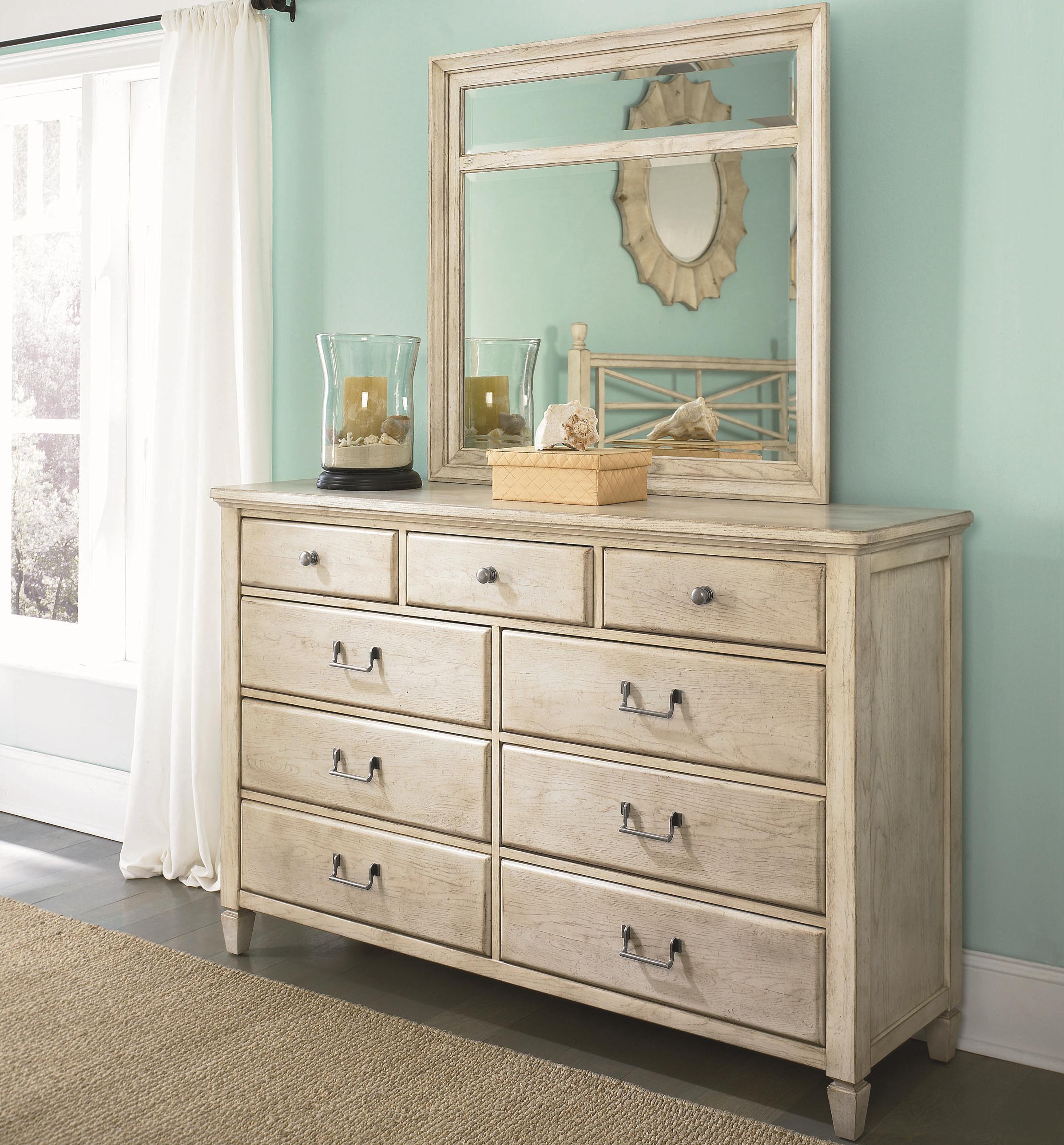 American Drew Americana Home Dresser and Mirror - Item Number: 114-130W+020W