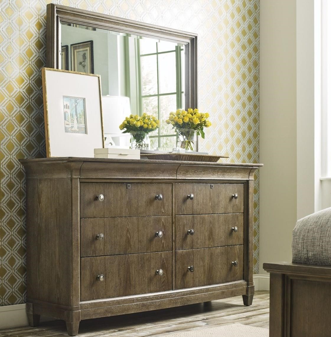 Anson Dresser + Mirror Set by American Drew at Alison Craig Home Furnishings