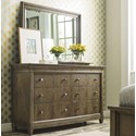 American Drew Anson Dresser + Mirror Set - Item Number: 927-130+040