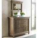American Drew Anson Dresser + Mirror Set - Item Number: 927-131+020