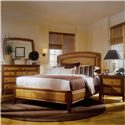 American Drew Antigua Rectangular Mirror with 9 Drawer Dresser - 931-020+931-220 - Mirror and Dresser Combo Shown in Furnished Bedroom