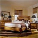 American Drew Antigua Accent Landscape Mirror - 931-020 - Landscape Mirror Shown with Bedroom Set