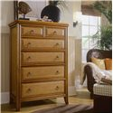 American Drew Antigua 6 Drawer Chest with Hardware Handles - 931-215