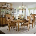 American Drew Antigua Splat Back Side Chair - 931-636 - Chairs Shown with Table Featured in Dining Room