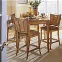 American Drew Antigua Stationary Bar Stool - 931-690 - Four Bar Stools Shown with Table Featured in Dining Room
