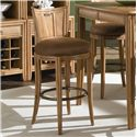 American Drew Antigua Round Bar Swivel Stool with Seat Back - Barstool Height Shown May Not Represent Height Indicated
