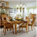 American Drew Antigua Rectangular Leg Table - 931-760 - Leg Table Shown with Chairs