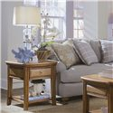 American Drew Antigua Coastal End Table with One Drawer - 931-915
