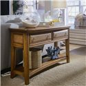 American Drew Antigua Two-Drawer One-Shelf Sofa Table with Woven Drawer Front Accents - 931-925