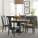 American Drew Ardennes Dining Table and Chair Set  - Item Number: 848-701R+4x636