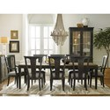 American Drew Ardennes Dining Table and Chair Set  - Item Number: 848-744+2x637+6x636