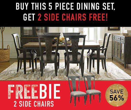 Adrienne Adrienne Dining Set with FREEBIE! by American Drew at Morris Home