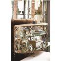 American Drew Bob Mackie Home Demi-Lune Sofa Table with Travertine Top - 308-925