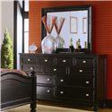 American Drew Camden - Dark Rectangular Mirror - Landscape Mirror Shown with Dresser