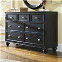 American Drew Camden - Dark 7 Drawer Dresser - 919-221