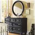 American Drew Camden - Dark 7 Drawer Dresser - 919-221 - Dresser Chest Shown with Mirror