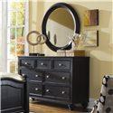 American Drew Camden - Dark 7 Drawer Dresser - 919-221 - Dresser with 7 Drawers Featured with Mirror
