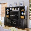 American Drew Camden - Dark Bookcase w/ 3 Shelves - End Unit Shown with Entertainment Console