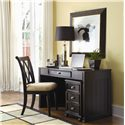 American Drew Camden - Dark Desk with Mounted Power Bar - Desk Shown with File Cabinet and Chair