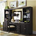 American Drew Camden - Dark Desk with Mounted Power Bar - Desk Shown with Home Office Wall Unit and File Cabinet