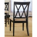 American Drew Camden - Dark Splat Back Side Chair with Cushion Seat - Back View of Splat Back Side Chair