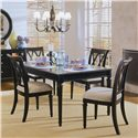 American Drew Camden - Dark Splat Back Side Chair with Cushion Seat - Splat Back Side Chair Shown with Table