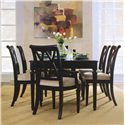 American Drew Camden - Dark Splat Back Side Chair with Cushion Seat - Splat Back Side Chair Shown in Dining Room Setting