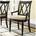 American Drew Camden - Dark Arm Chair with Cut-Out Back