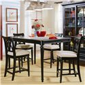 American Drew Camden - Dark Bar Stool Counter Height - Counter Height Stools Shown with Rectangle Table