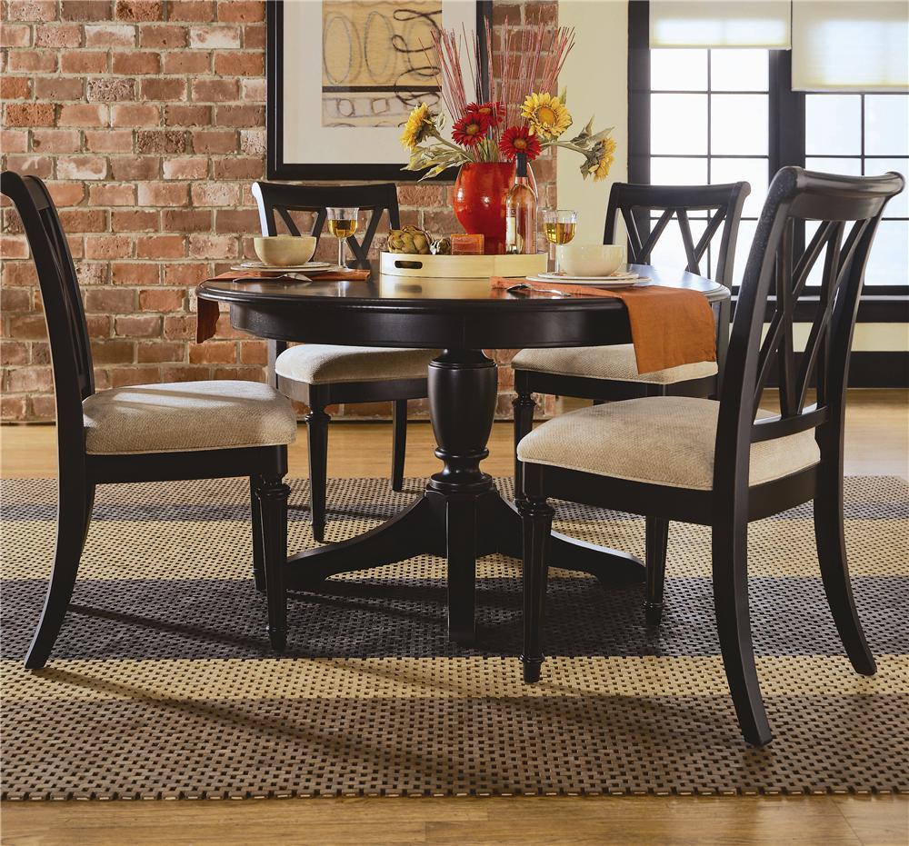 American drew camden dark 919 701r round table with for Kitchen 919 knoxville tn menu