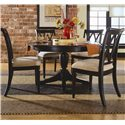 American Drew Camden - Dark Round Table with Butterfly Leaf - Round Table Shown with Chairs