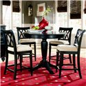 American Drew Camden - Dark Pub Table with Stools - Item Number: 919-706+4x690