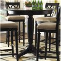 American Drew Camden - Dark Bar Height Pedestal Table - Item Number: 919-706R Bar Height
