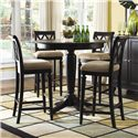 American Drew Camden - Dark Bar Height Pedestal Table with Stools - Item Number: 919-706R+4x691