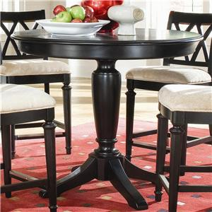 Living Trends Camden - Dark Round Counter Height Pedestal Table
