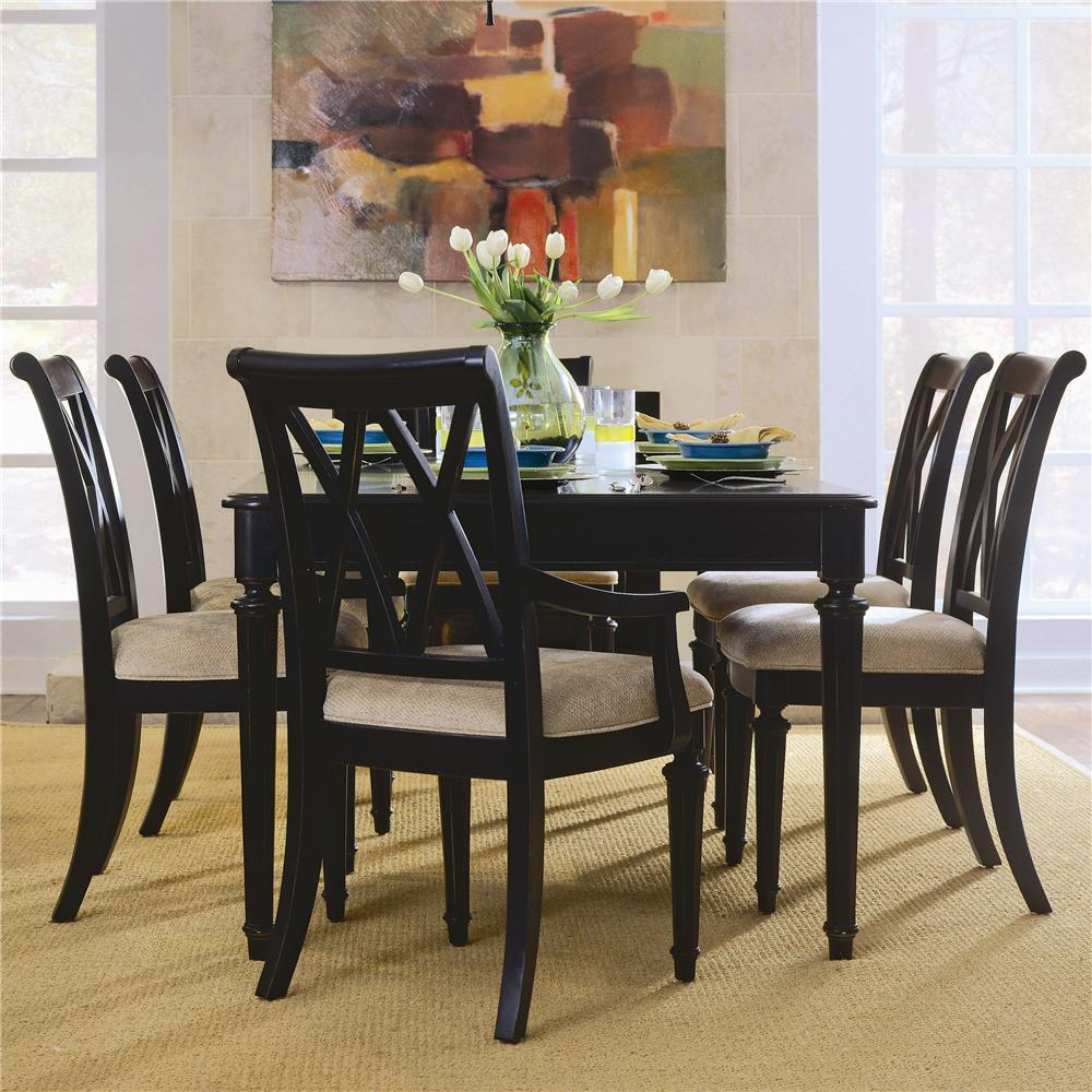 Formal Dining Room Table And Chairs By American Drew Ebth: American Drew Camden - Dark Rectangular Leg Table