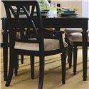 American Drew Camden - Dark Rectangular Leg Table - Side Profile of Rectangular Leg Table