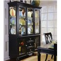 American Drew Camden - Dark China Buffet/Credenza with 2 Glass Doors - Buffet Shown with Hutch