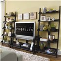 "American Drew Camden - Dark Wall Storage with Five Shelves - 919-940 - Wall Storage Shown with 56"" Entertainment Center"