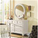 American Drew Camden - Light Round Beveled Mirror - Mirror Shown with Dresser
