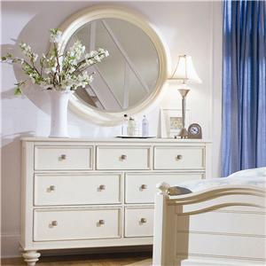 American Drew Camden - Light Dresser and Mirror