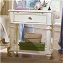 American Drew Camden - Light Leg Nightstand with 1 Drawer - Detail of Nightstand