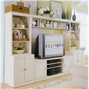 American Drew Camden - Light Bookcase w/ 3 Shelves - Cabinet Shown in Wall Unit with Entertainment Center