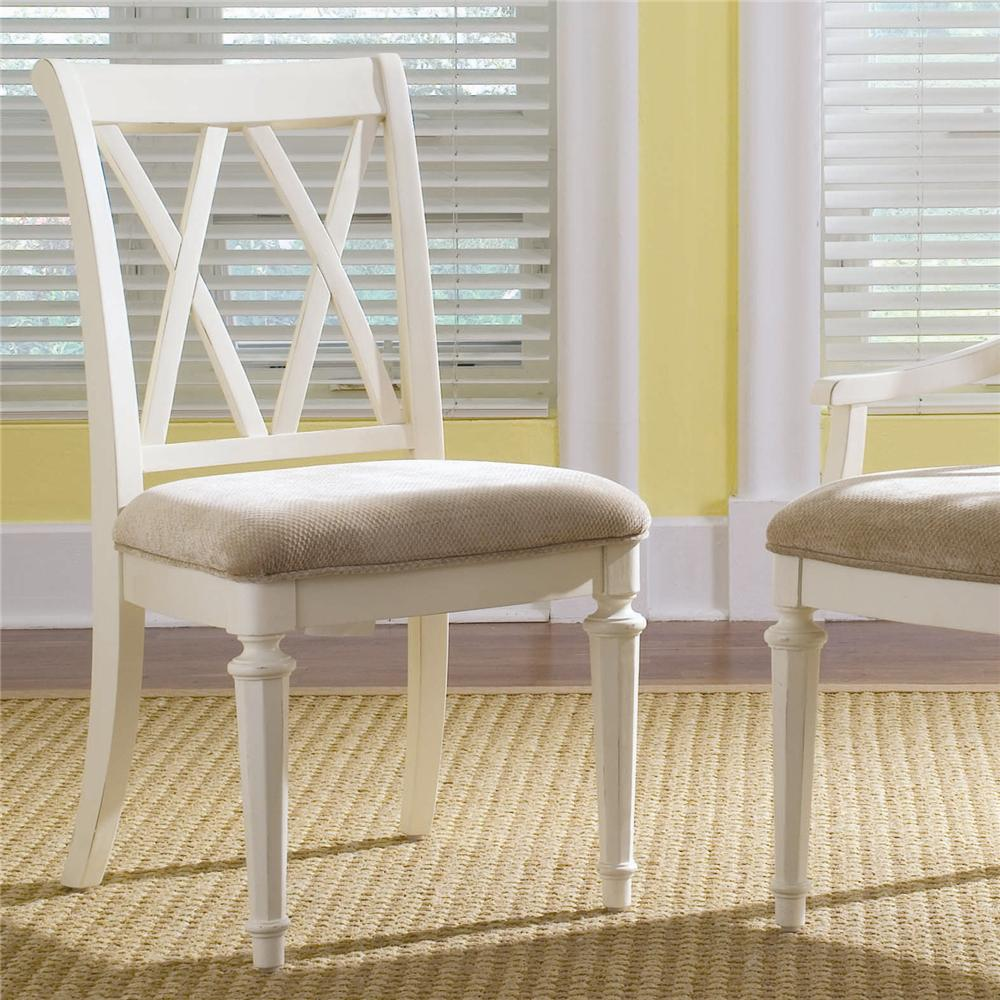 Camden   Light Splat Back Side Chair With Cushion Seat By American Drew