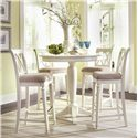 American Drew Camden - Light Bar Height Bar Stool with Cut-Out Back - Bar Stools Shown with Table