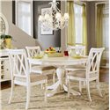 American Drew Camden - Light Round Dining Table with Splat Back Chairs - Round Table Shown with Cut-Out Back Chairs