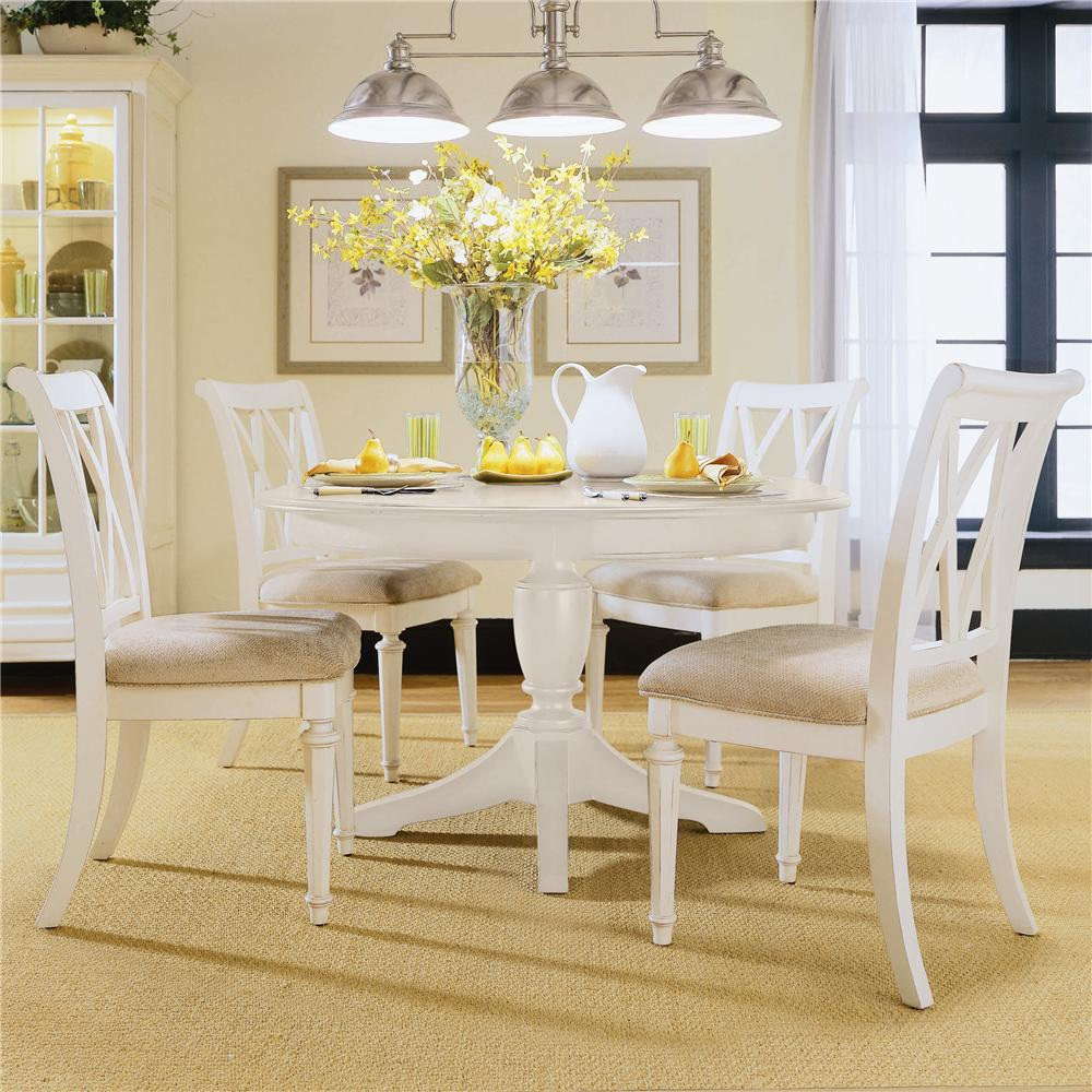 American drew camden light round table with butterfly leaf jacksonville furniture mart - Round kitchen table with butterfly leaf ...